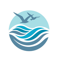 Ocean logo design vector