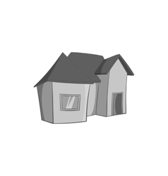 One storey residential house icon vector