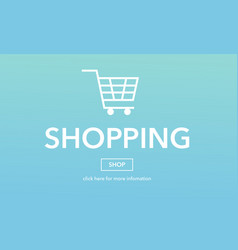 online shopping commerce web page concept vector image