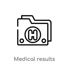 outline medical results folders icon isolated vector image