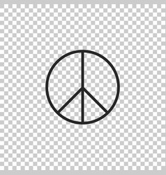 peace sign icon isolated hippie symbol of peace vector image