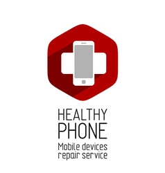 Phone repair service logo template vector image