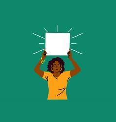 protest activism discrimination racism banner vector image