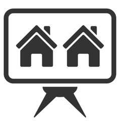 Realty project flat icon vector
