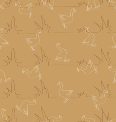Seamless pattern for background composed of styliz vector image