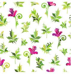 seamlessseamless floral pattern simple pink vector image