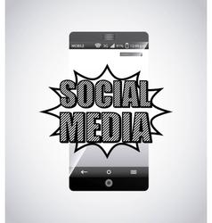 social media network icon vector image