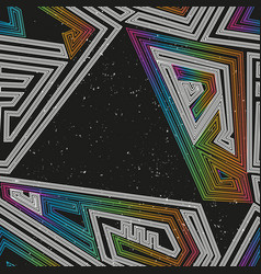 Space geometric seamless pattern vector