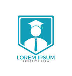 Student and education logo design vector