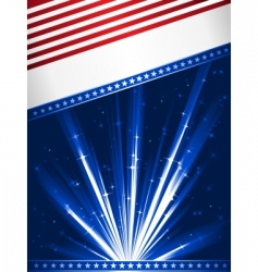stylised usa flag vector image