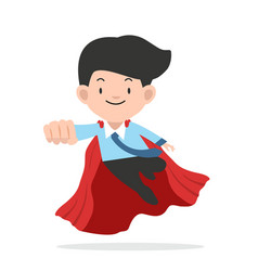 super businessman in a flat style vector image