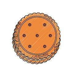 sweet cookie dessert vector image