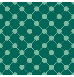 Teal Green Polka dot Chess Board Grid vector image