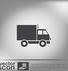 Truck Logistic icon symbol icon laden truck vector