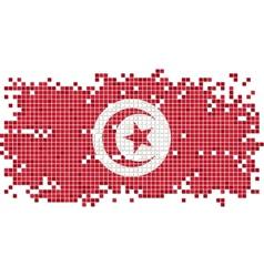 Tunisian grunge tile flag vector