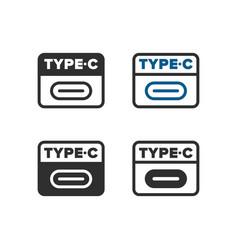 Usb type c icon vector