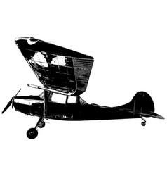 vintage military reconnaissance plane vector image