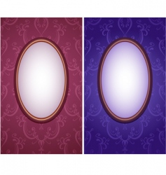 wallpapers with oval frame vertical vector image