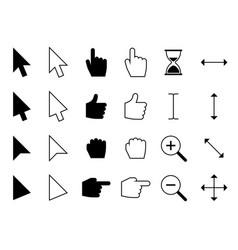 web cursors digital hand finger pointers vector image