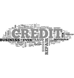 What you need to know about credit repair vector
