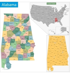 Alabama state vector image