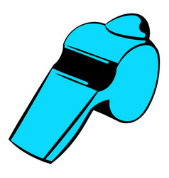 blue whistle icon icon cartoon vector image