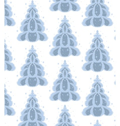 december trees vector image vector image