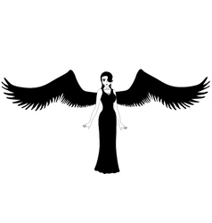 Girl with wings vector image