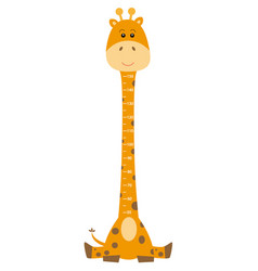 meter wall giraffe vector image