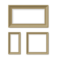 picture frames on the wall vector image vector image
