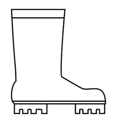 Rubber boots icon outline style vector image