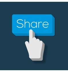 Share Button with Hand Shaped Cursor vector image vector image