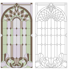 stained-glass window vector image