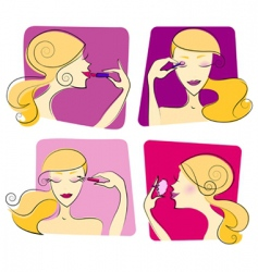 Woman makeup vector