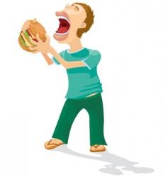 eating men vector image vector image