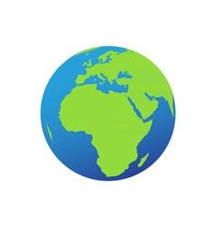 Globe-380x400 vector image vector image