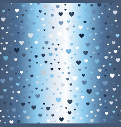 glowing heart pattern seamless vector image vector image