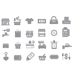 Store gray icons set vector image vector image
