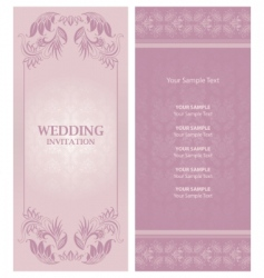 wedding invitation background vector image vector image