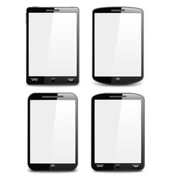 Modern Black Smart Phones vector image