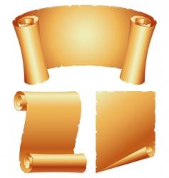 paper scrolls vector image