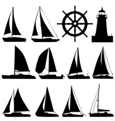 sailing vector image