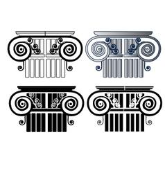 Set of columns vector image