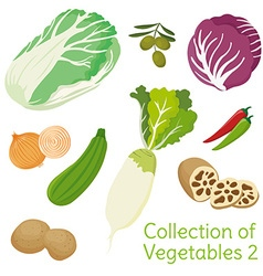 Vegetables 02 vector image vector image