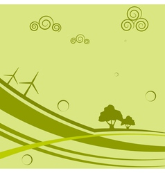 Abstract background with wind generators vector