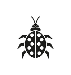 The ladybug icon Ladybird and bug beetle symbol vector image