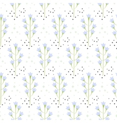 Wild bluebell flower spring field seamless pattern vector image vector image