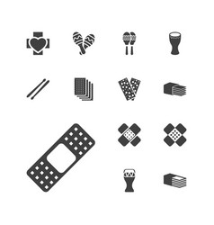 13 band icons vector