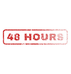 48 hours rubber stamp vector