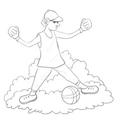 A coloring bookpage for children teenager image vector